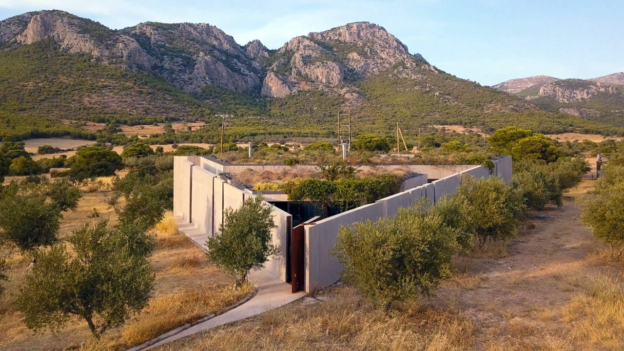 In Greece, an Architect's Triangular Design Sits Amid 600 Olive Trees