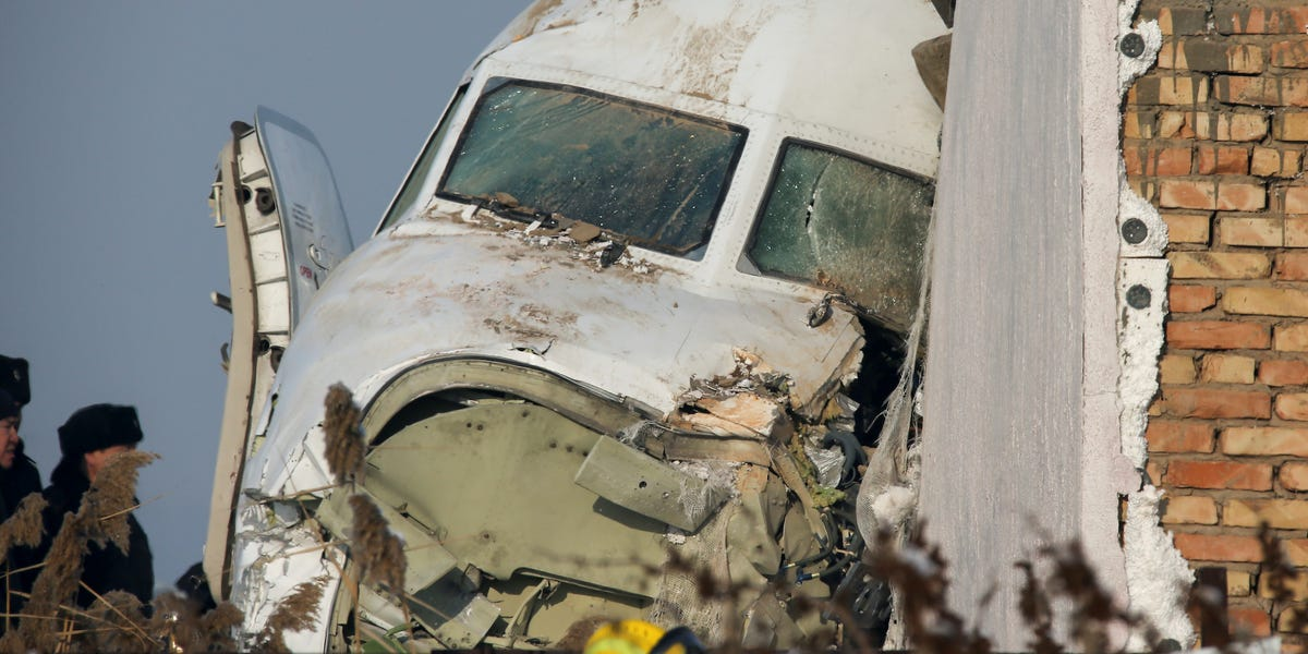 Photos: 12 dead after plane carrying 98 crashes in Kazakhstan