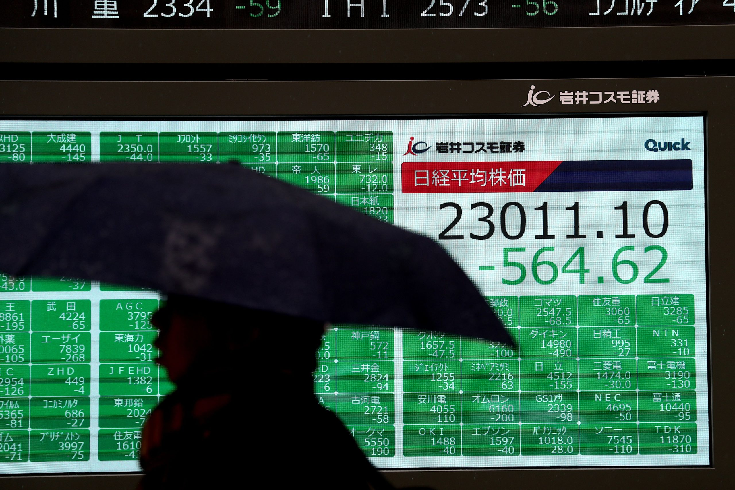 Asia markets tumble as violence flares in Iraq; oil and gold prices soar