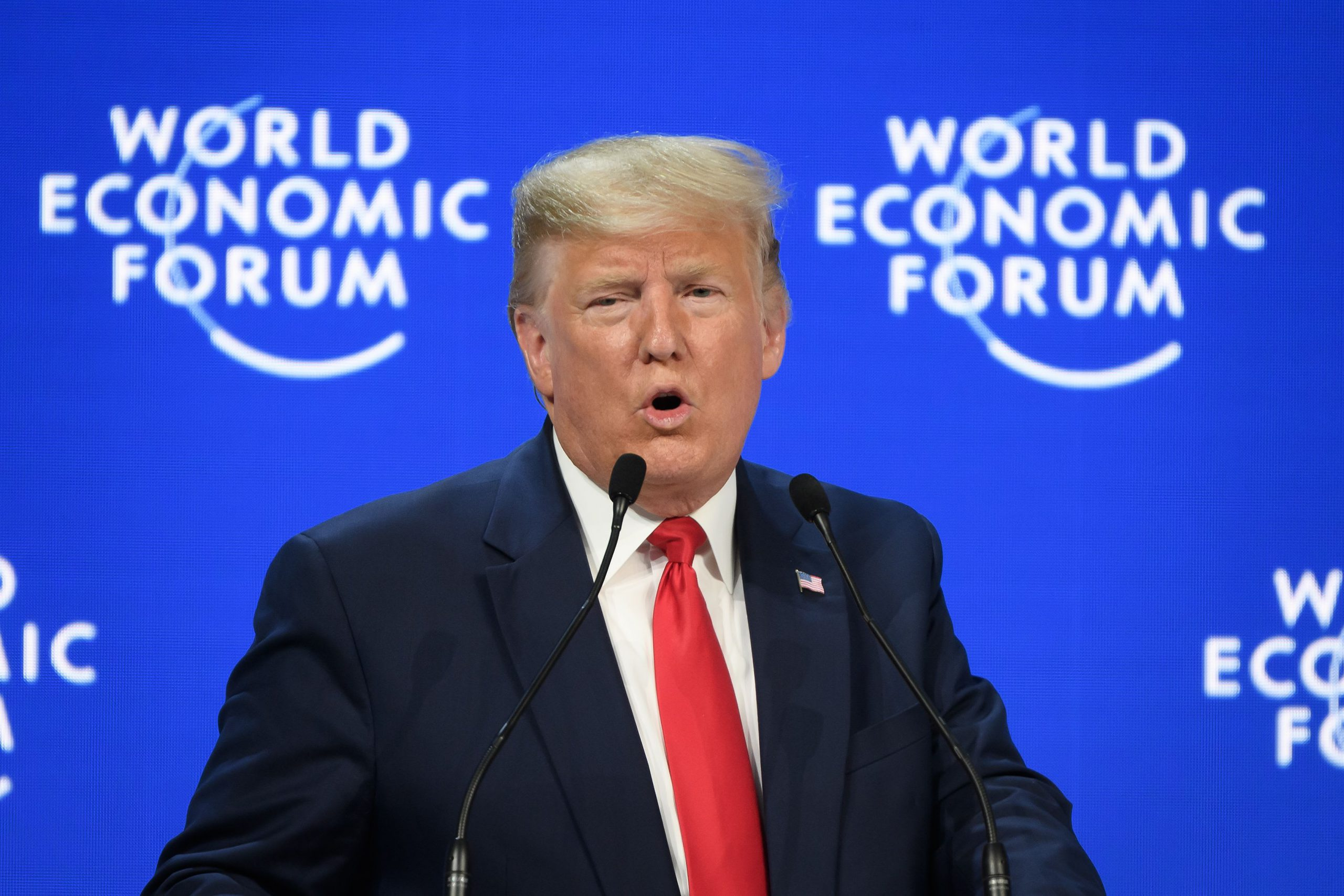 A 'pre-election speech': Attendees react to Trump's Davos address