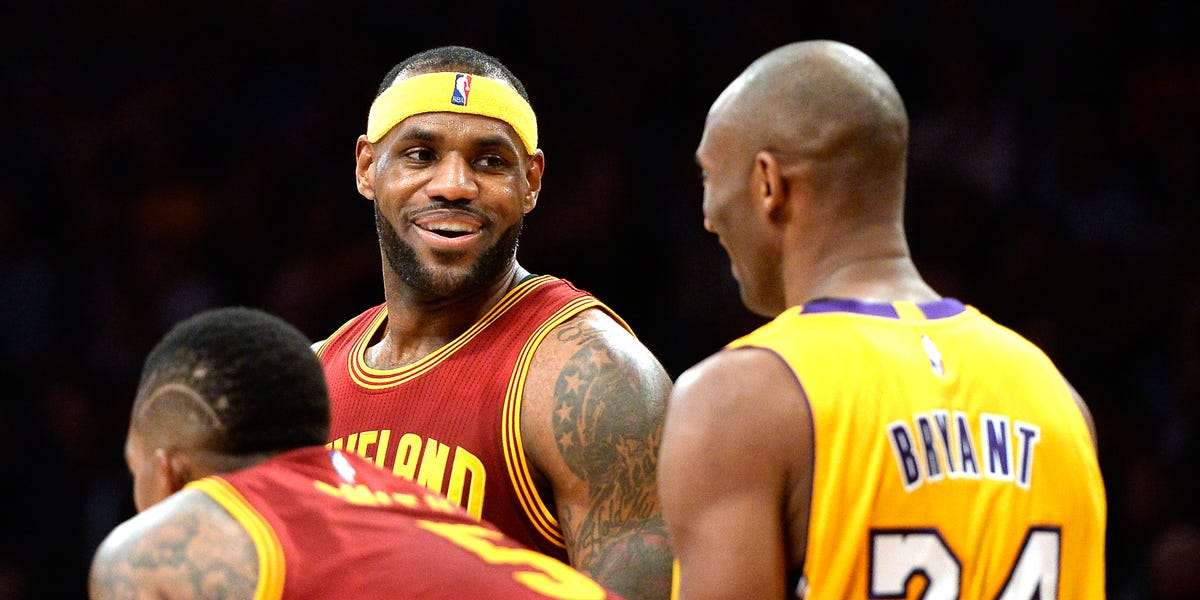 LeBron James reflected on his relationship with Kobe Bryant