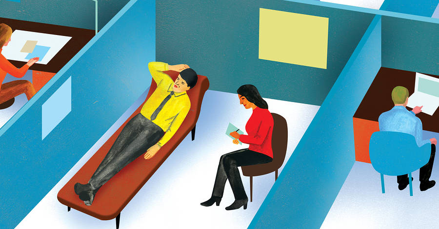 The Latest Perk for Stressed-Out Office Workers: Therapy Comes to You