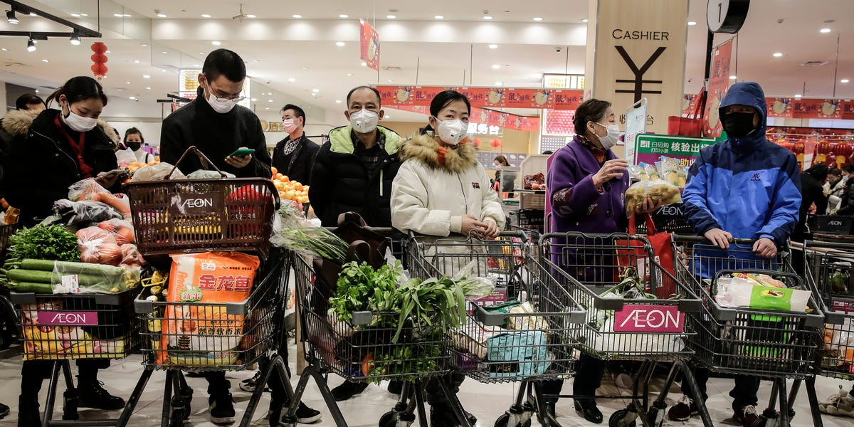Photos of stores in Wuhan show what life is like under the coronavirus lockdown