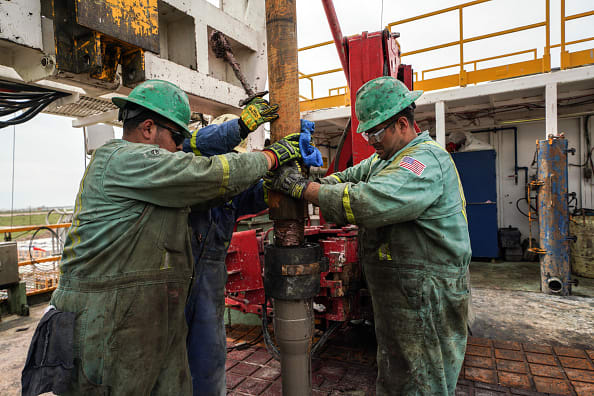 Oil jumps more than 3% as new coronavirus cases slow, Street eyes deeper production cuts