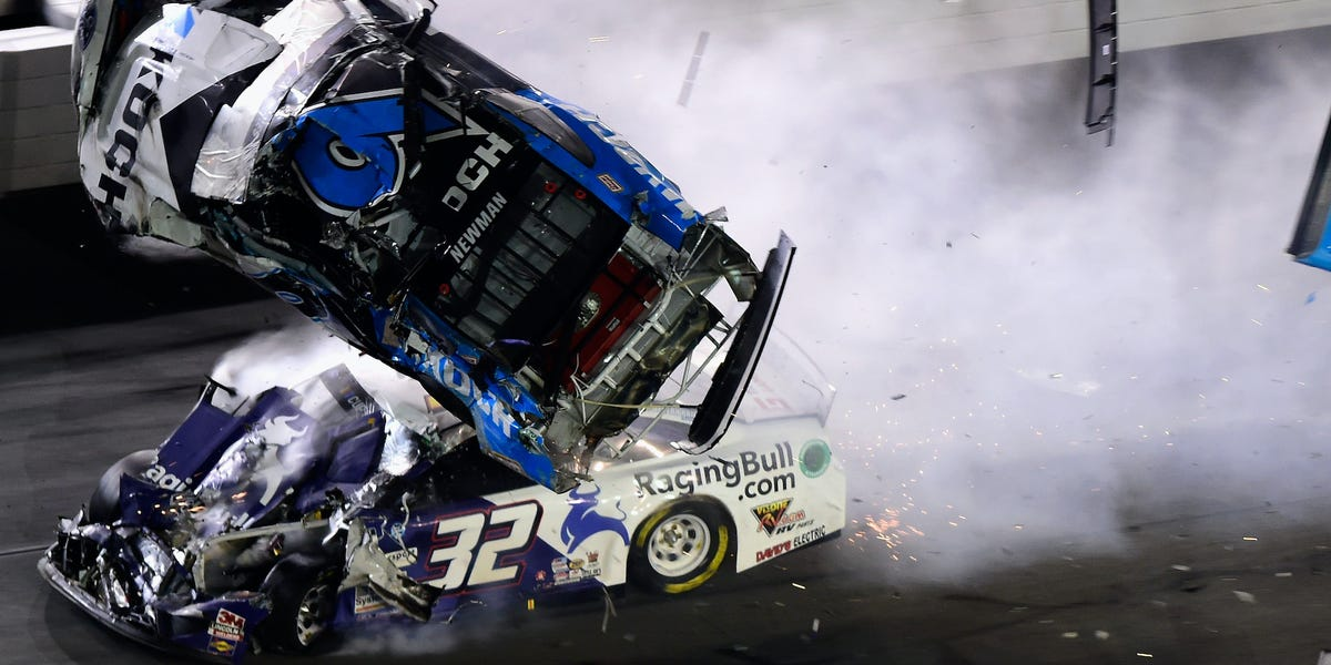 VIDEO: End of Daytona 500 by scary wreck that flipped Ryan Newman
