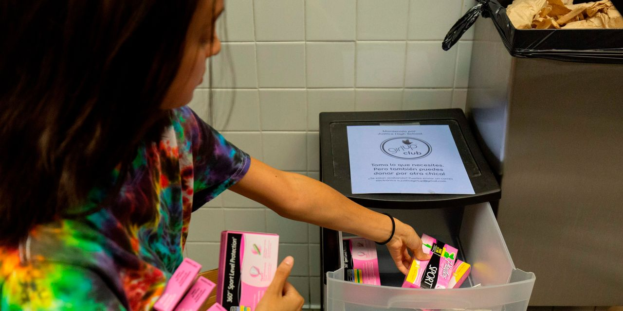 More States Consider Free Tampons in School Bathrooms