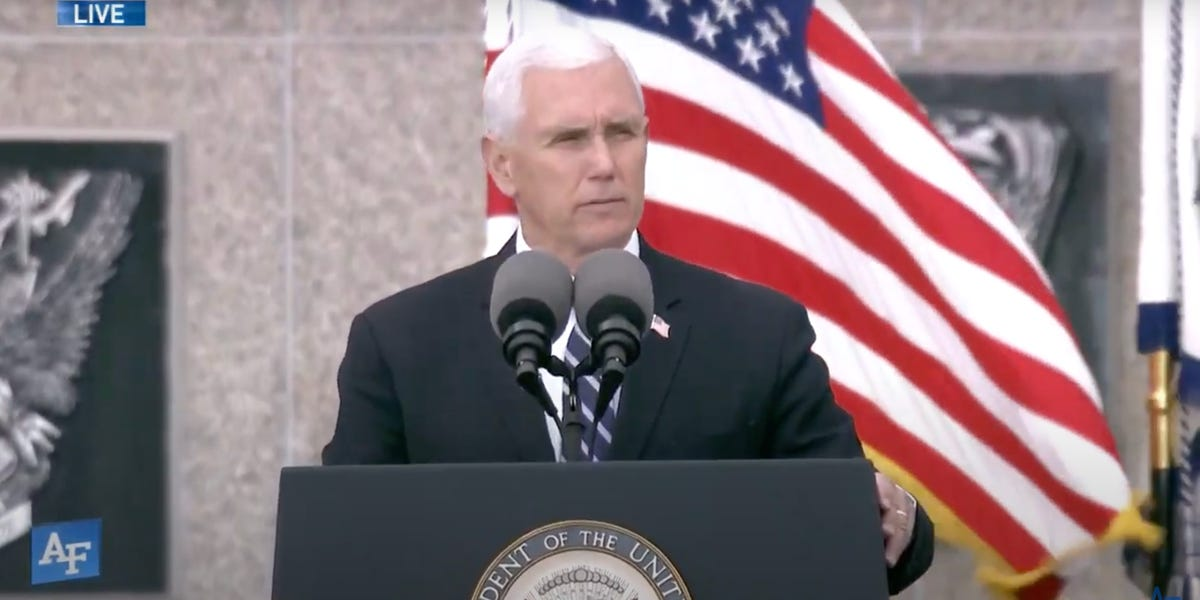 Pence delivers commencement to Air Force Academy graduates
