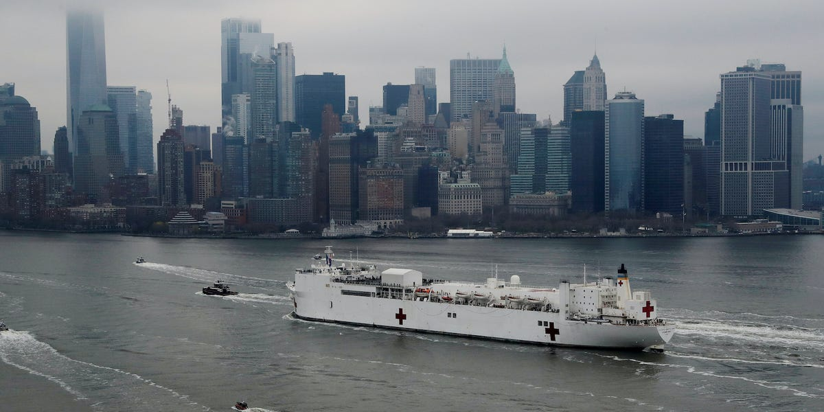 USNS Comfort Navy hospital is 2% full, not taking COVID-19 patients