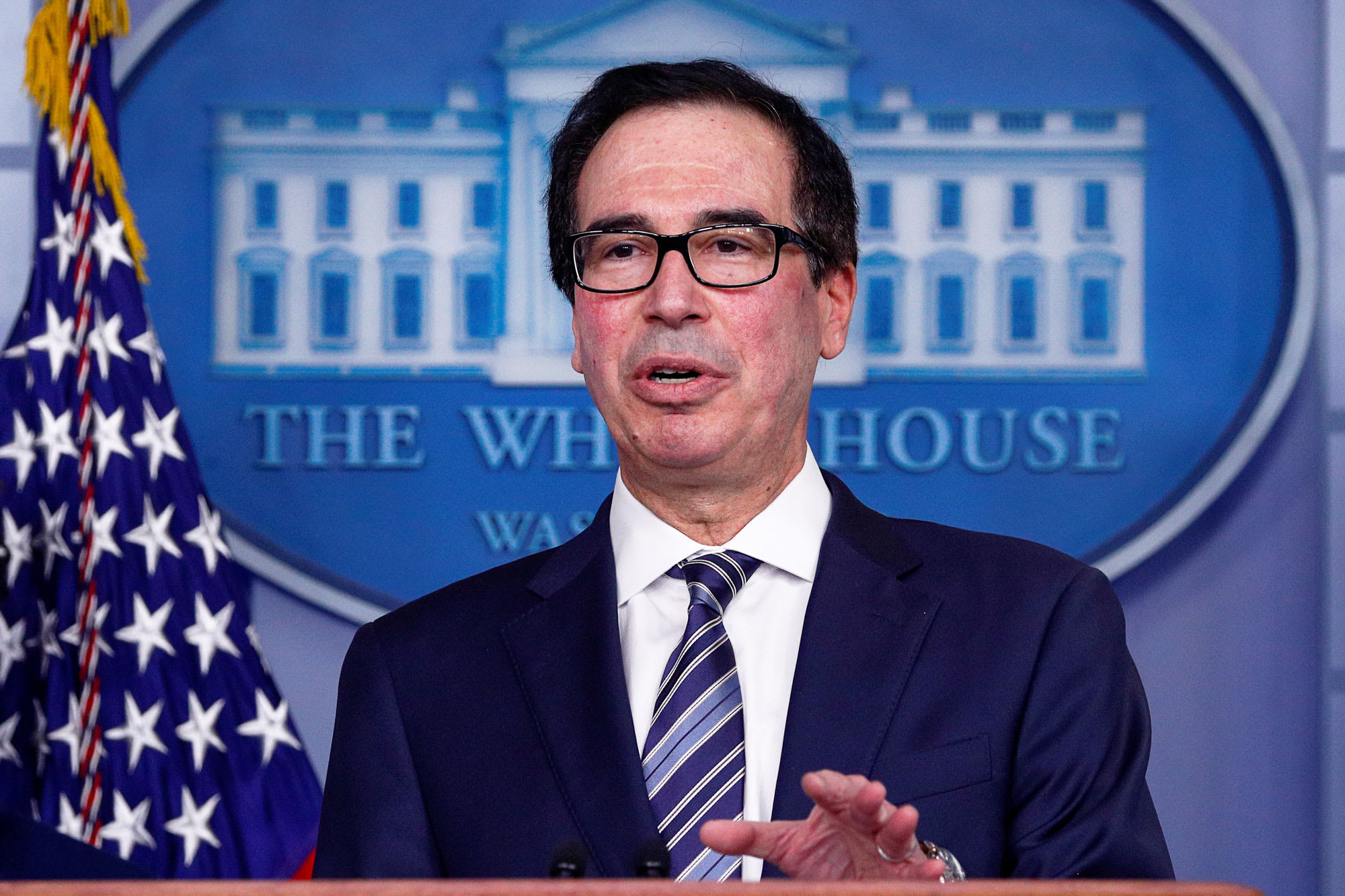 Treasury Secretary Mnuchin says the government won't run out of money for small businesses