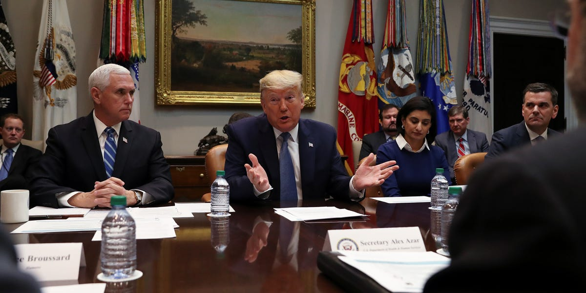 Trump task force to reopen the economy became phone calls with 200 corporate leaders