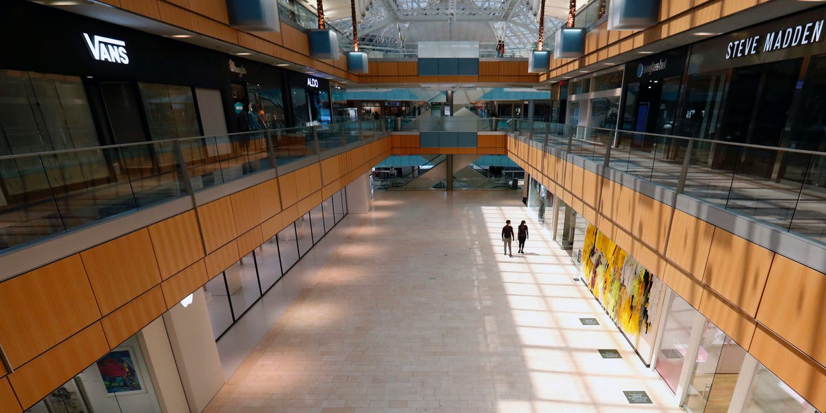 What malls look like as they reopen in Texas, Oklahoma, Indiana