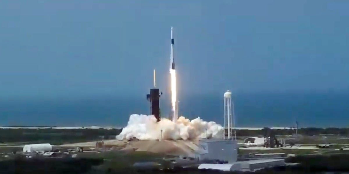 SpaceX launches historic mission flying NASA astronauts to space