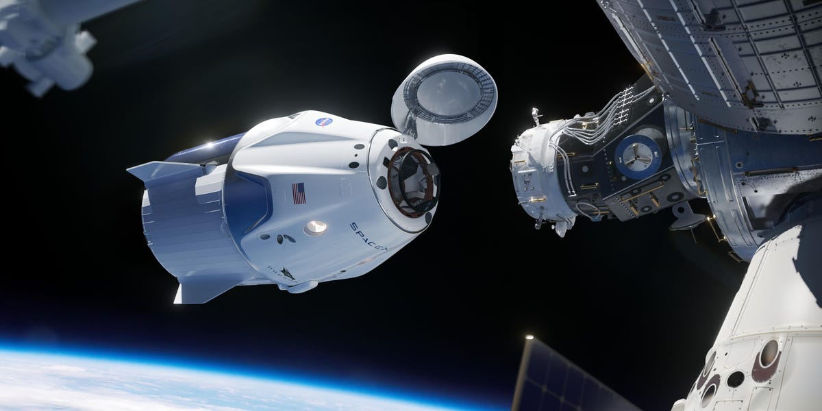 NASA astronauts dock SpaceX's Crew Dragon ship to the space station
