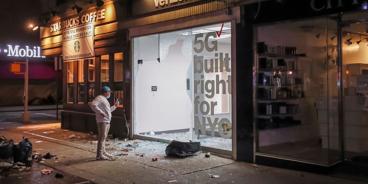 Looters Damage Businesses, Anger Protesters