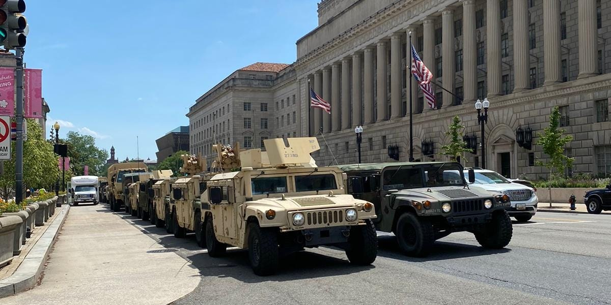 Protesters: DC feels like 'military state' under Trump command