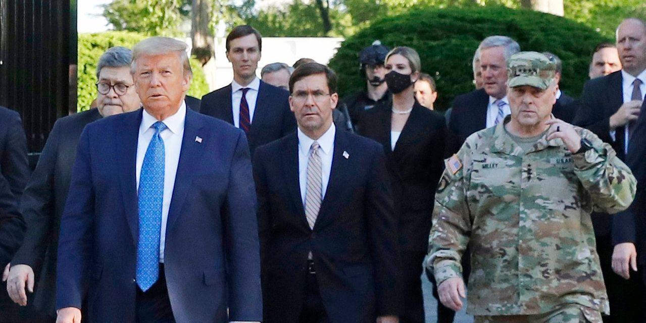 Top General Apologizes for Being at Trump Church Photo Shoot
