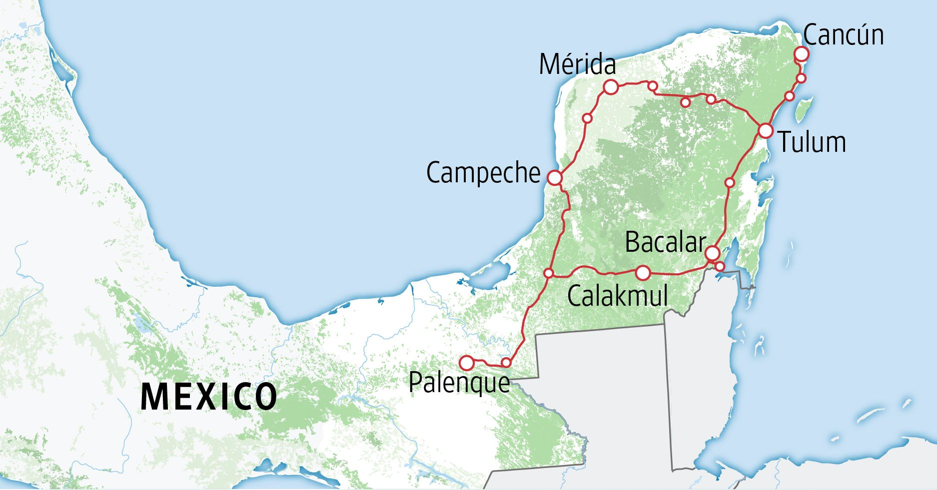 A Rainforest, Maya Ruins and the Fight Over a Tourist Train