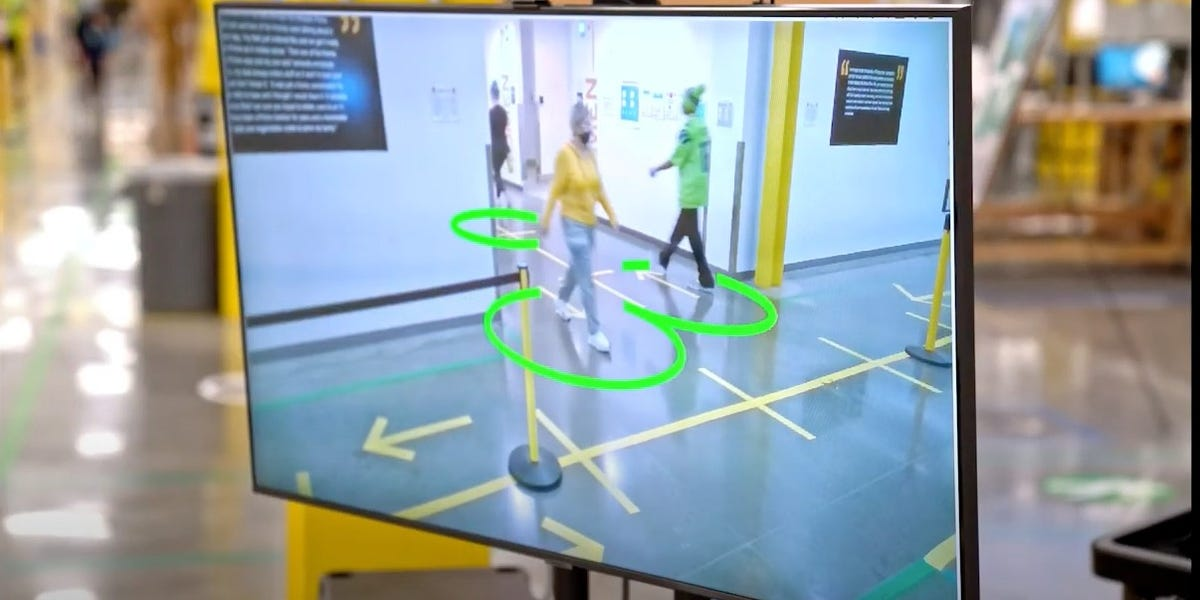 Amazon warehouses get AI cameras to make sure workers are 6 feet apart