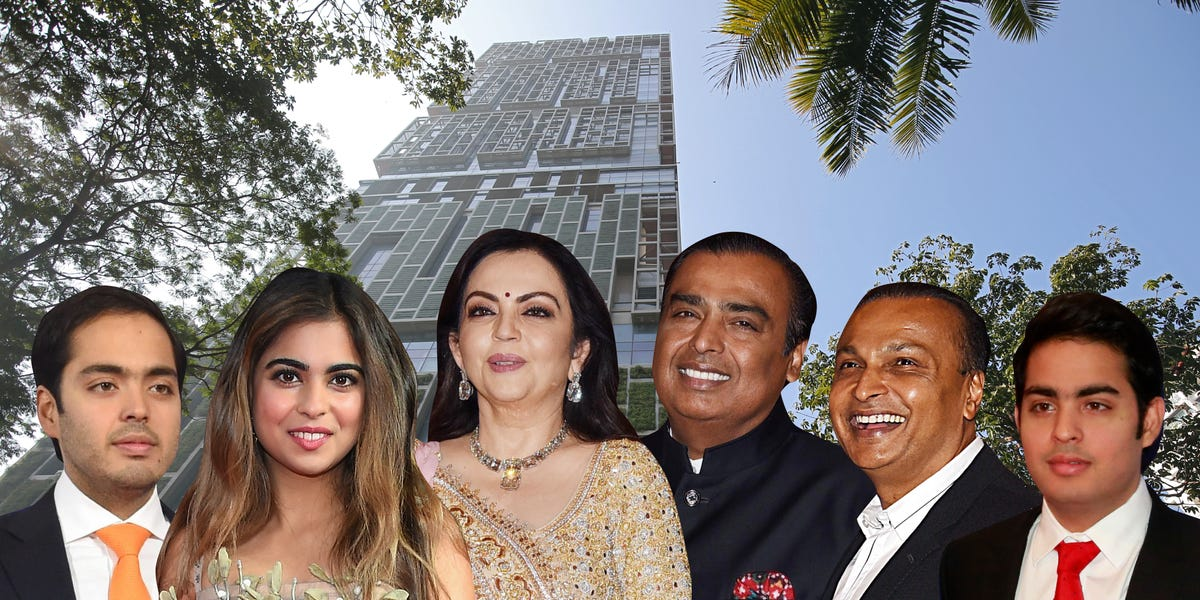 Meet the Ambanis, India's richest family, who live in a $1 billion home