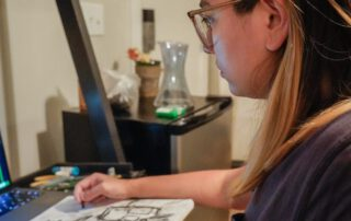 What it's like to take a virtual drawing class over Zoom