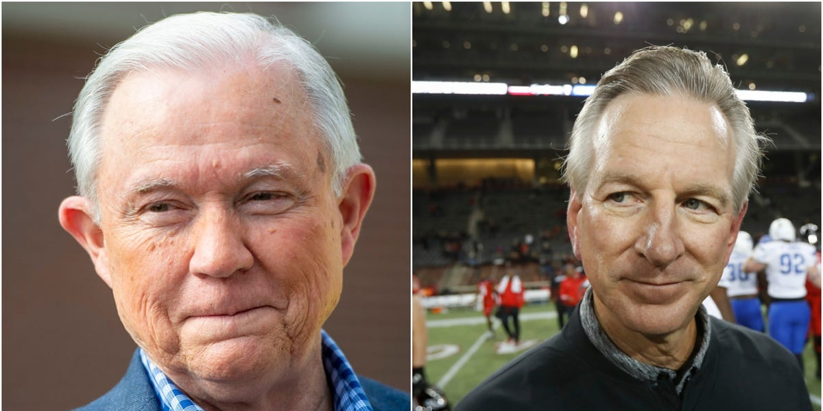 Tommy Tuberville defeats Jeff Sessions in Republican runoff for US Senate in Alabama